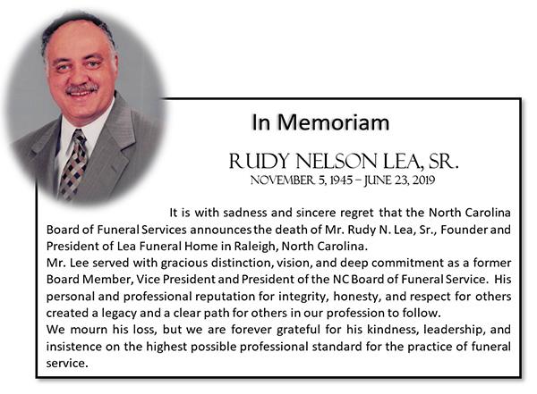 In Memoriam of Rudy Nelson Lea, Sr.